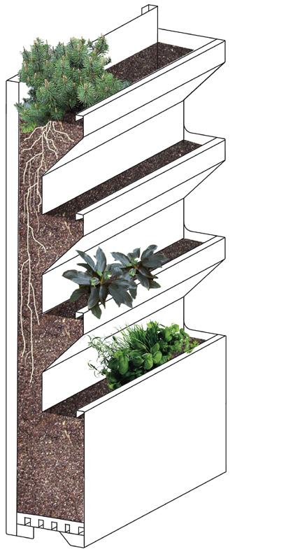 Gallery of descrizione grafica della struttura with - Pannelli per giardini verticali ...