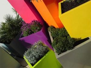 Vasi per piante colorati