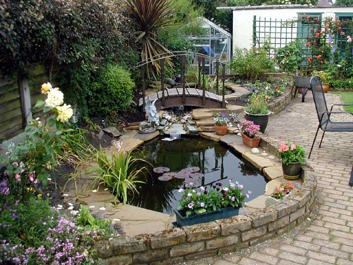 Preparazione del progetto del laghetto da giardino